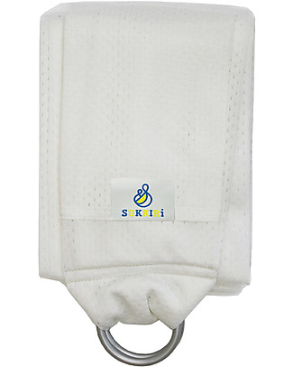 Lucky Baby Lightweight Baby Sling - SUKKIRi - Ideal for Summer - White Baby Slings