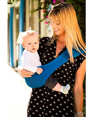 Lucky Baby Ultra Light Baby Sling - SUPPORi - Fits in your Pocket - Blue Baby Slings