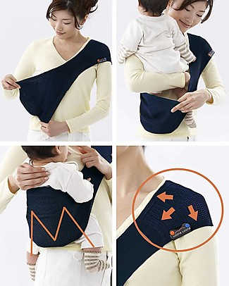 Lucky Baby Ultra Light Baby Sling - SUPPORi - Fits in your Pocket - Dark Blue Baby Slings