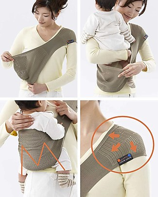 Lucky Baby Ultra Light Baby Sling - SUPPORi - Fits in your Pocket - Sage Baby Slings