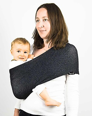 Lucky Baby Wacotto, 2-in-1 Baby Carrier, Grey - Also great as infinity scarf! Baby Slings