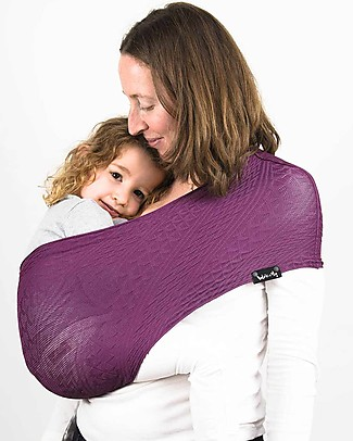 Lucky Baby Wacotto, 2-in-1 Baby Carrier, Magenta - Also great as infinity scarf! Baby Slings