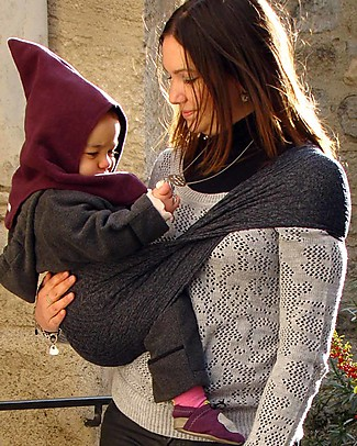 Lucky Wacotto, 2-in-1 Baby Carrier, Grey – Also great as infinity scarf! Baby Slings