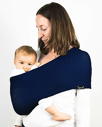 Lucky Wacotto, 2-in-1 Baby Carrier, Navy Blue – 6-36 mths - Also great as infinity scarf! Baby Slings