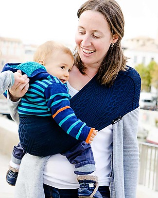 Lucky Wacotto, 2-in-1 Baby Carrier, Navy Blue – Also great as infinity scarf! Baby Slings