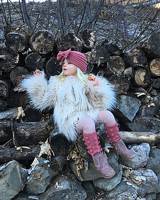 Lullaby Road Merino Wool Legwarmers, Taupe pink - Warm fashion item! Socks