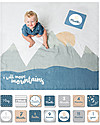 Lulujo Baby Baby's First Year Swaddle + Cards Set, I Will Move Mountains - For the social baby and parents! Swaddles