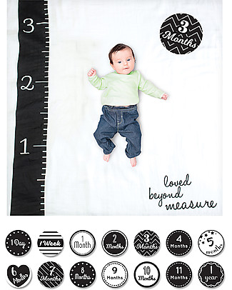 Lulujo Baby Baby's First Year Swaddle + Cards Set, Loved Beyond Measure - For the social baby and parents! Swaddles