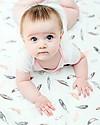 Lulujo Baby Copertina Swaddle 120 x 120 cm, Plume - 100% mussola di cotone  Swaddles