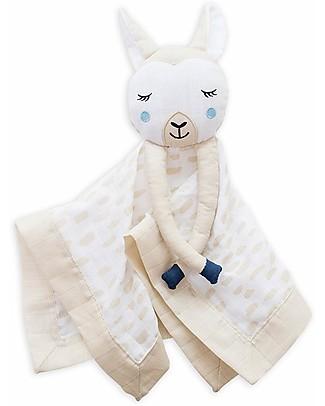 Lulujo Baby Doudou Comforter Lovie - Llama - 100% Cotton Muslin  Blankets