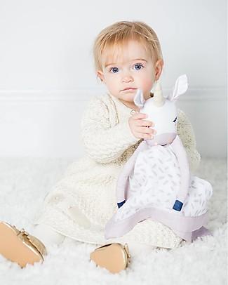 Lulujo Baby Doudou Comforter Lovie - Unicorn - 100% Cotton Muslin  Blankets