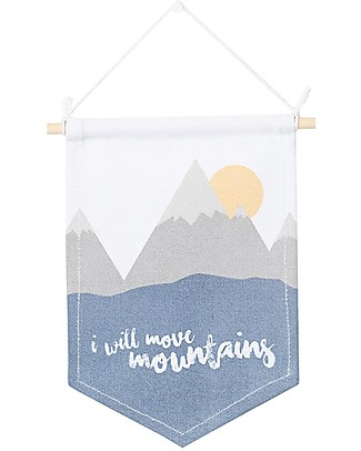 Lulujo Baby Hanger - I Will Move Mountains Room Decorations