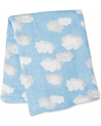 Lulujo Baby Swaddle Blanket 120 x 120 cm, Clouds - 100% cotton muslinLlama Swaddles