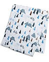 Lulujo Baby Swaddle Blanket 120 x 120 cm, Mountain Top - 100% cotton Swaddles