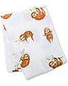 Lulujo Baby Swaddle Blanket 120 x 120 cm, Sloth - 100% cotton muslinLlama Swaddles