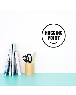 Made of Sundays Hugging	Point Wall Decal - Black Posters