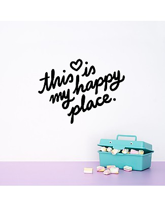 Made of Sundays This is my Happy Place Wall Decal - Black Posters