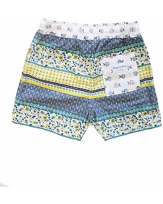 Maghi e Maci Firenze Boy's Swim Trunks, Liberty - 100% Cotton, Hand Made in Florence Swimming Trunks