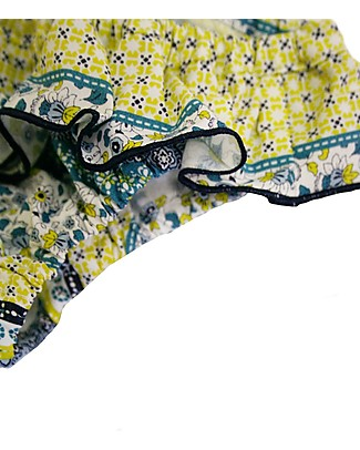 Maghi e Maci Firenze Girl's Swim Pants Yellow/Light Blue - 100% Cotton, Hand Made in Florence Bikinis And Tankinis