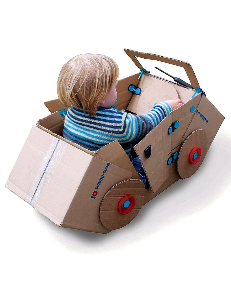 MakeDo Find and Make Kit - Car (recycle and repurpose creatively) unisex (bambini)