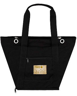 MAMI Mami Changing Bag, Black - Includes a changing mat! Made in Italy! Diaper Changing Bags & Accessories