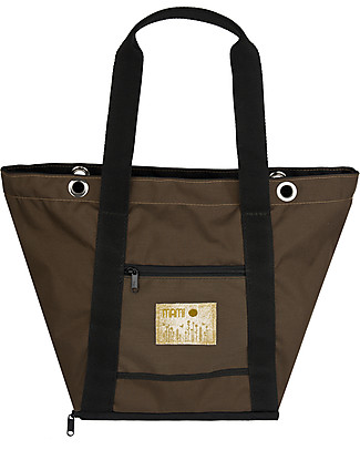 MAMI Mami Changing Bag, Brown+Black - Includes a changing mat! Made in Italy! Diaper Changing Bags & Accessories