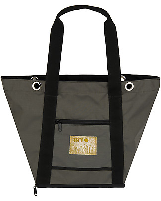 MAMI Mami Changing Bag, Lead+Black - Includes a changing mat! Made in Italy! Diaper Changing Bags & Accessories