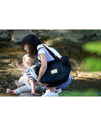 MAMI Mami Changing Bag, Military Green/Black – Includes a changing mat! Made in Italy! Diaper Changing Bags & Accessories
