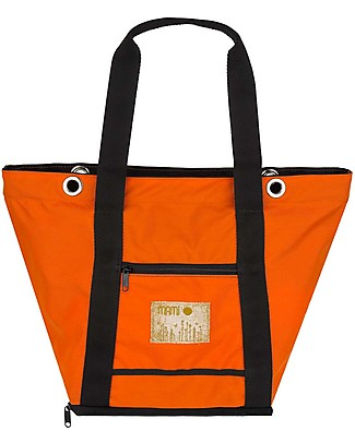 MAMI Mami Changing Bag, Orange/Black – Includes a changing mat! Made in Italy! Diaper Changing Bags & Accessories