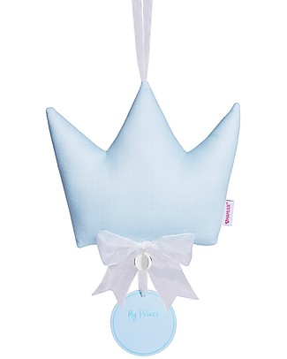 MAMIJUX Baby Birth Ribbon Crown with Mexican Bola, Light Blue Room Decorations