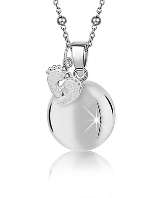 MAMIJUX Chiama Angeli Bola Messicana with Little Feet Pendant - Nichel Free Pregnancy Chimes