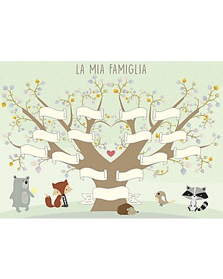 MAMIJUX Family Heraldic Tree Poster, 30x42 cm Posters