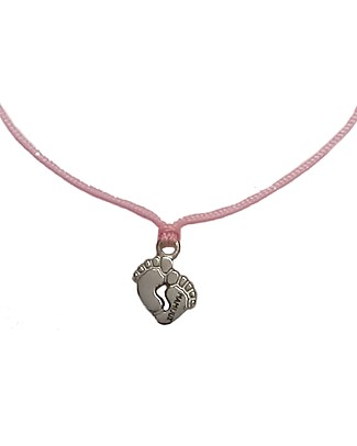 MAMIJUX Little Feet Pink Bracelet, Make a Wish - For Mother-to-be and New Mom Bracelets