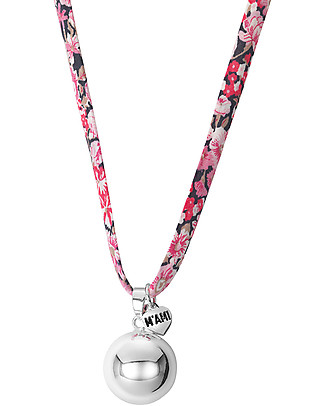 MAMIJUX Mexican Bola Pregnancy Chime - Pink Flowers - Nickel Free Pregnancy Chimes
