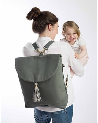 Mara Mea 2-in-1 City Diaper Bag/Shoulder Bag, Real Wanderer - 100% waxed cotton Messenger Bags