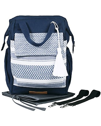 Mara Mea 3-in-1 Travel Diaper Backpack Vacay Mode, Navy Diaper Changing Bags & Accessories