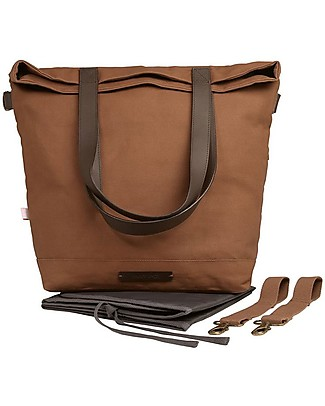 Mara Mea 4 in 1 Diaper Bag  Family Brown, Brown – Water repellent Cotton Canvas (multi-functional & multipocket) Diaper Changing Bags & Accessories