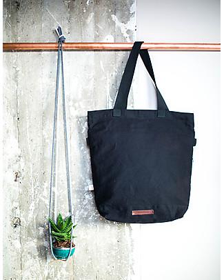 Mara Mea 4 in 1 Diaper Bag Global Traveler, Black - Water repellent Cotton Canvas (multi-functional & multipocket) Diaper Changing Bags & Accessories