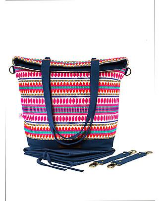 Mara Mea 4 in 1 Diaper Bag Senorita Bella, Multicolour – Water repellent Cotton Canvas (multi-functional & multipocket) Diaper Changing Bags & Accessories