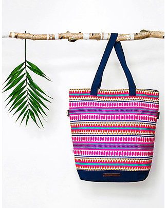 Mara Mea 4 in 1 Diaper Bag Senorita Bella, Multicolour - Water repellent Cotton Canvas (multi-functional & multipocket) Diaper Changing Bags & Accessories