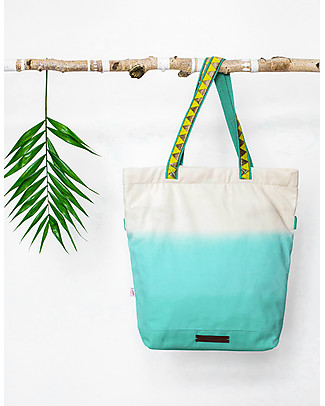 Mara Mea 4 in 1 Diaper Bag Urubamba, Turquoise Dip Dye Diaper Changing Bags & Accessories