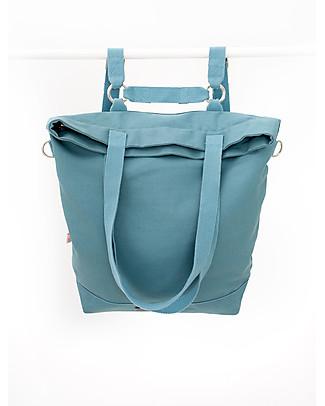 Mara Mea 4 in 1 Diaper Bag Wisdom Dancer, Aqua Sea - Water repellent Cotton Canvas (multi-functional & multipocket) Diaper Changing Bags & Accessories