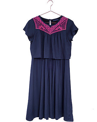 Mara Mea Bananadilla, Maternity and Nursing Dress, Navy – With concealed nursing panel! Dresses