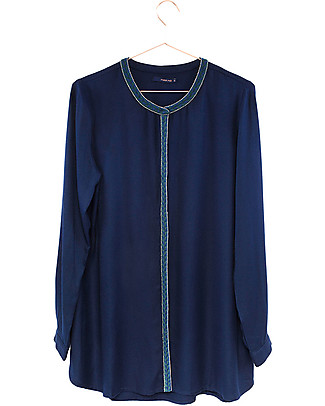 Mara Mea Boho Birthday, Maternity and Nursing Blouse, Navy Blue Shirts And Blouses