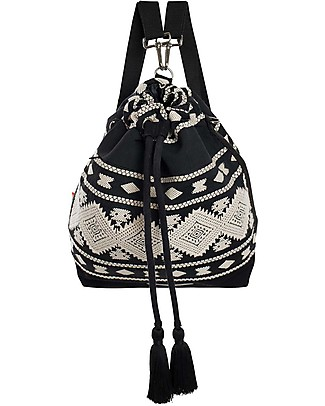 Mara Mea Bucket Diaper Bag 3-in-1 Black Sky - Cotton Diaper Changing Bags & Accessories