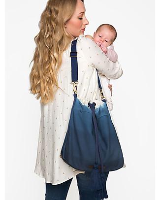 Mara Mea Bucket Diaper Bag 3-in-1 Great Spirit Blue Dip Dye - Waxed canvas Large Backpacks