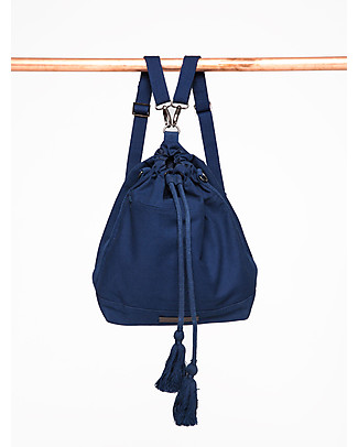 Mara Mea Bucket Diaper Bag 3-in-1 Moonlight Navy - Waxed canvas Diaper Changing Bags & Accessories