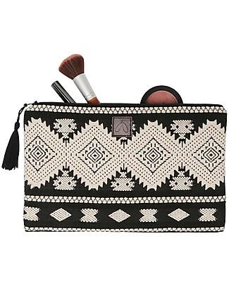 Mara Mea Cosmetic Pouch Lost Soul - Black&White - 100% Cotton null