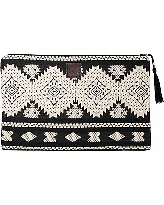 Mara Mea Cosmetic Pouch Lost Soul - Black&White - 100% Cotton Makeup Bags & Pouches