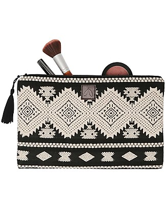 Mara Mea Cosmetic Pouch Lost Soul - Black&White - 100% Cotton null